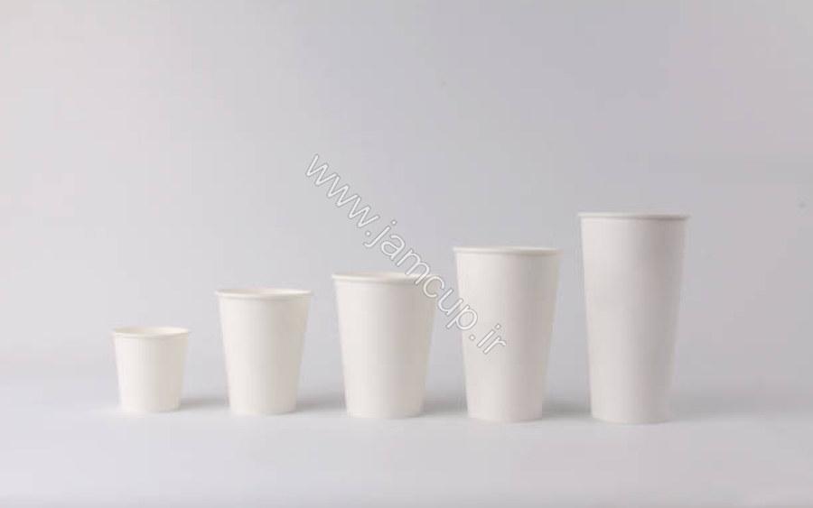 سایزهای لیوان کاغذی