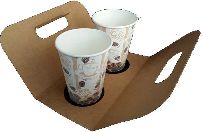 لیوان کاغذی با جعبه