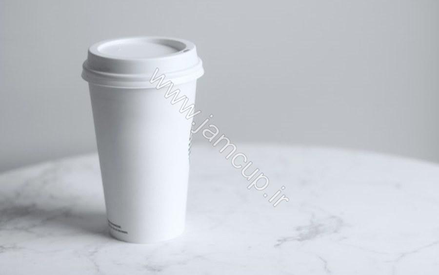 لیوان کاغذی درب دار