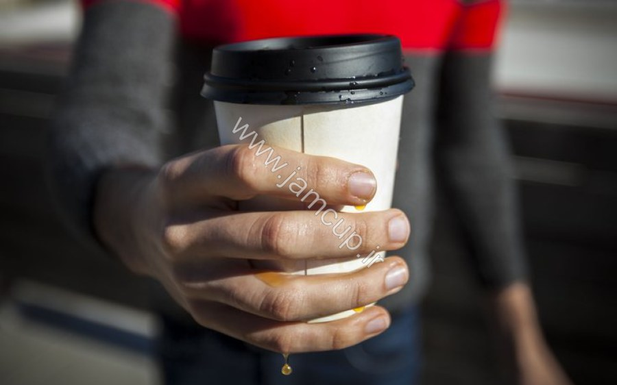 نشتی آب و مایعات لیوان کاغذی